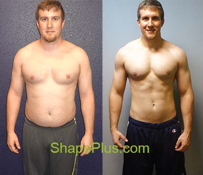 Before and after my personal trainer